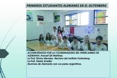 – intercambio con el Instituto Gutenberg a partir del 2012